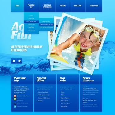 Amusement Park Website Template