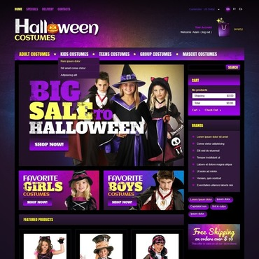 Halloween PrestaShop Theme