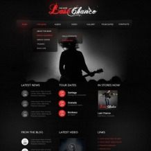 Music Band Flash CMS Template