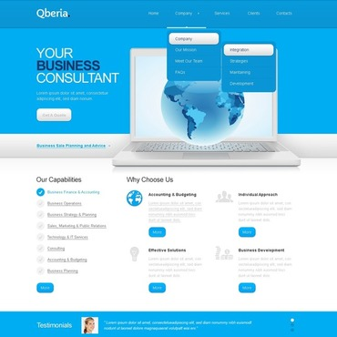 Consulting Website Template #41263