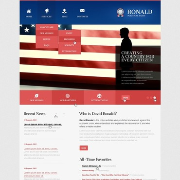 Political Party Responsive Joomla Template