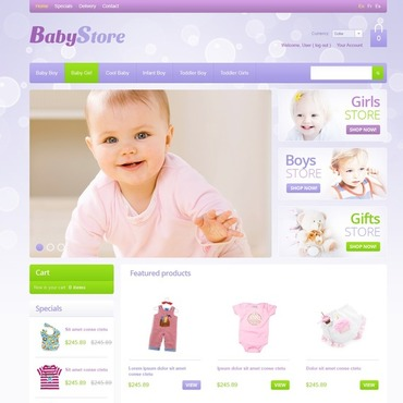 Baby Store OsCommerce Template