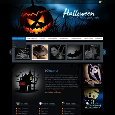 Halloween Flash CMS Template