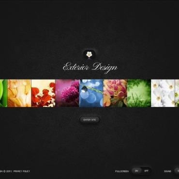 Exterior Design Flash CMS Template
