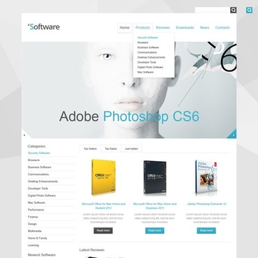 Software Company Responsive Website Template #41403
