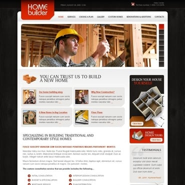 Construction Company Facebook Flash CMS Template