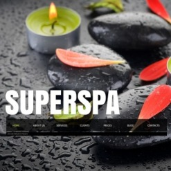 Spa Accessories Facebook Flash CMS Template