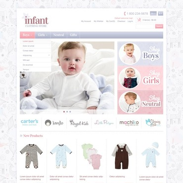 Infant Store Magento Theme #41811