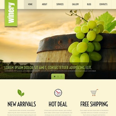 Winery WordPress Theme