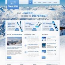 Skiing Website Template