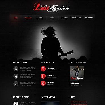 Music Band Moto CMS HTML Template #41943