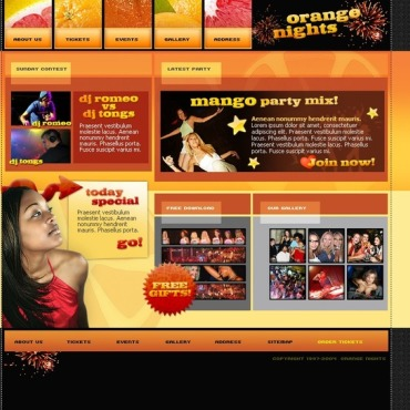 Night Club Flash Template