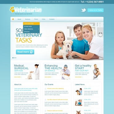 Vet Responsive Website Template #42123