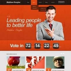 Political Candidate WordPress Theme