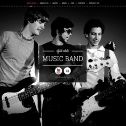 Music Band Facebook HTML CMS Template