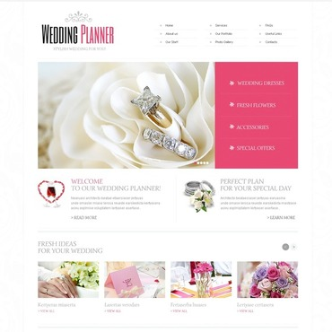 Wedding Planner Facebook HTML CMS Template
