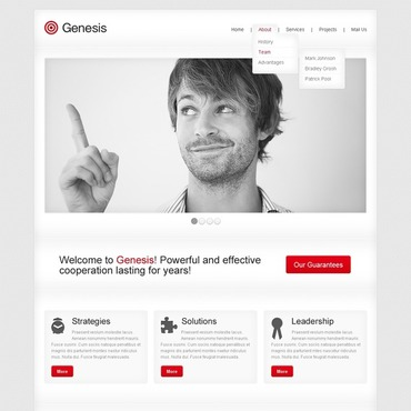 Advertising Agency Website Template