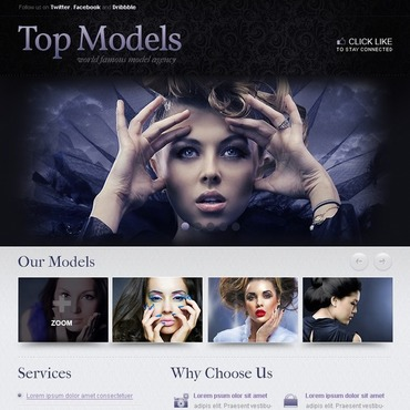 Model Agency Facebook Template