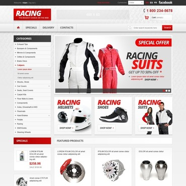 Car Racing PrestaShop Theme
