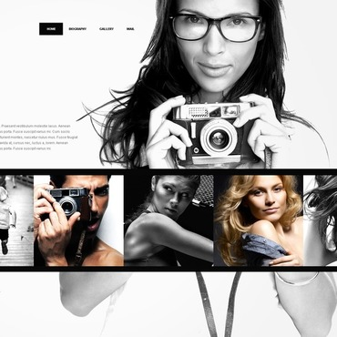Photographer Portfolio Facebook HTML CMS Template