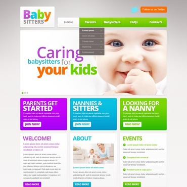 Babysitter Responsive Website Template