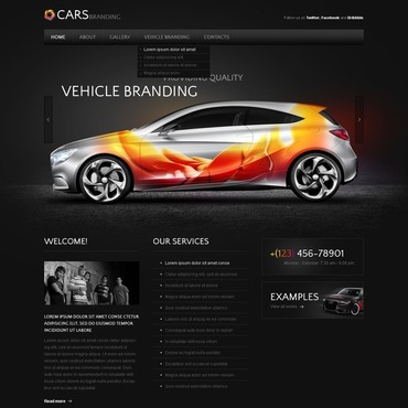 Car Dealer PSD Template