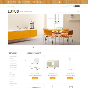 Interior & Furniture VirtueMart Template