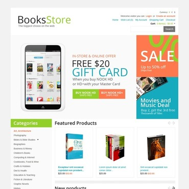 Book Store OpenCart Template