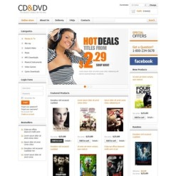 DVD Store VirtueMart Template
