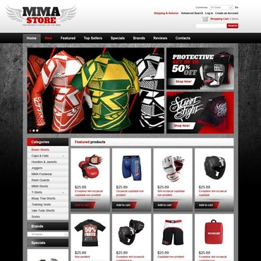 Martial Arts OsCommerce Template