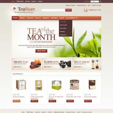 Tea Shop OsCommerce Template