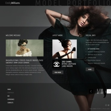 Model Portfolio Website Template