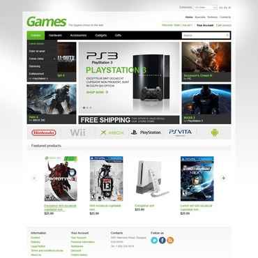 Games PrestaShop Theme