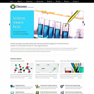 Science Moto CMS HTML Template