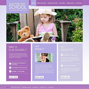 Primary School Moto CMS HTML Template