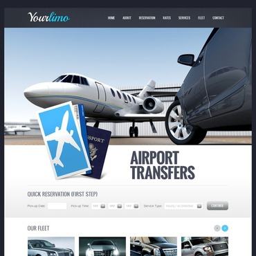 Limousine Services Flash CMS Template #44123
