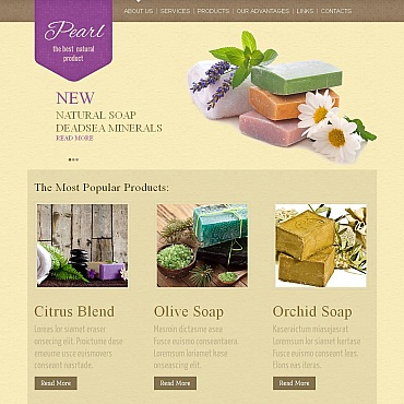 Crafts Moto CMS HTML Template