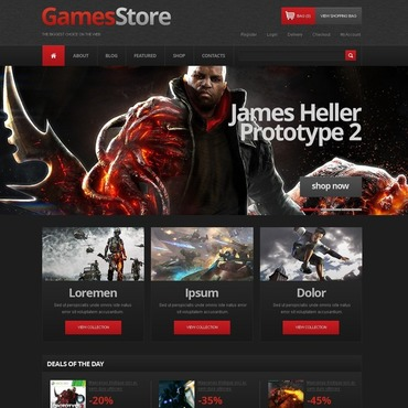 Games Responsive Jigoshop Theme