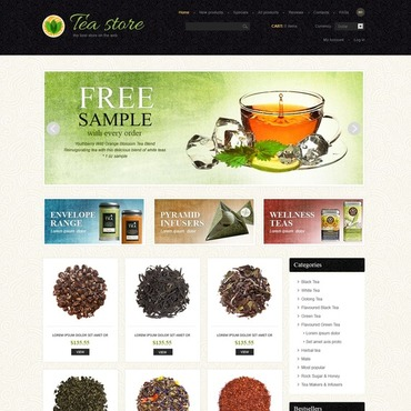 Tea Shop ZenCart Template