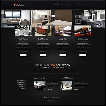 Interior Design Responsive Website Template