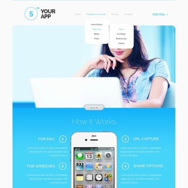 Software Store Responsive Website Template