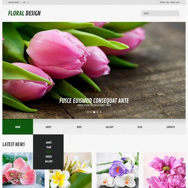 Flowers Responsive WordPress Theme