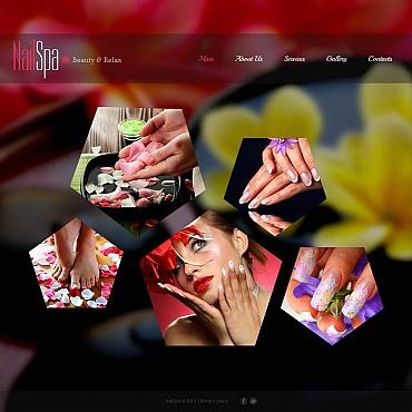 Nail Salon Moto CMS HTML Template