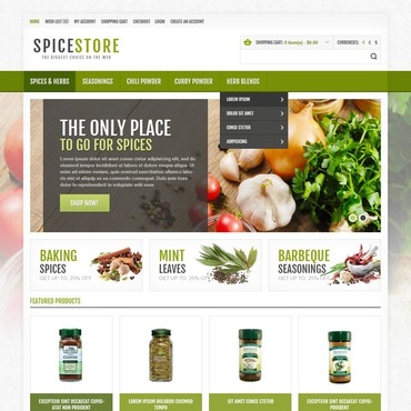 Spices for Your Dishes OpenCart Template #44767