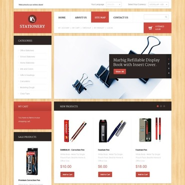 Stationery Magento Theme