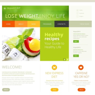 Weight Loss Responsive Joomla Template