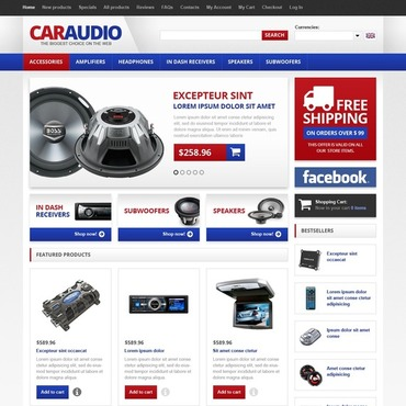 Car Audio ZenCart Template