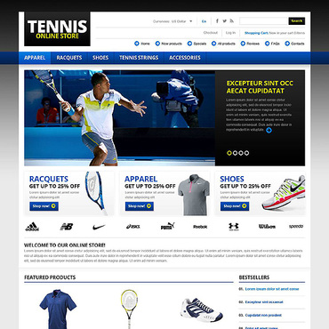 Tennis ZenCart Template