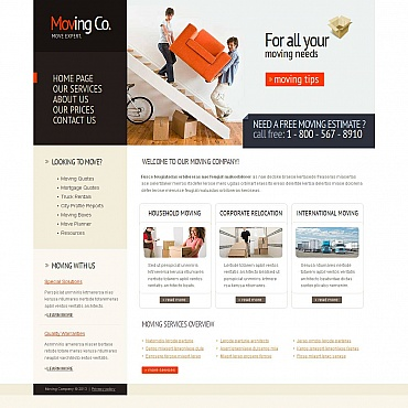 Moving Company Moto CMS HTML Template