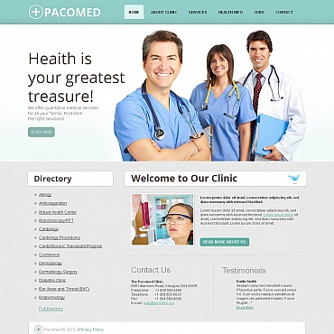 Rehabilitation Moto CMS HTML Template